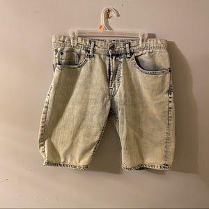 Buffalo David Bitton Acid Wash Jean Shorts